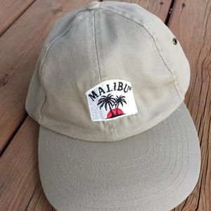 Vintage 90's Malibu RUM offwhite Buckle Dad hat
